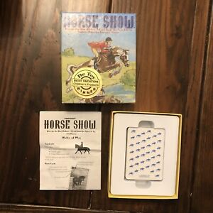 Gamewright Horse Show Card Game Incomplete 2004