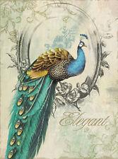 VINTAGE PEACOCK BIRD * home decor QUALITY CANVAS ART PRINT