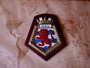 SHIPS CREST - HMS KENYA 8/HALF BY 7 INCHES