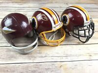 Lot of 3 Autographed Signed Washington Redskins Riddell Mini Helmets