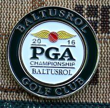 "2016 PGA Championship BALTUSROL  1"" Gold Plated Golf Ball Marker on Pocket Coin"