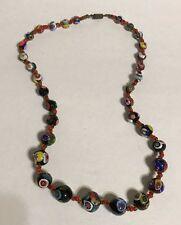 Vintage Venetian Murano Glass Bead Necklace