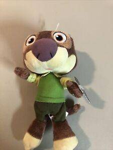 Disney Zootopia Mr. Otterton Small Plush Stuffed Animal Toy NWT
