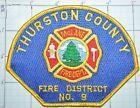 WASHINGTON STATE, THURSTON COUNTY FIRE DISTRICT NO. 9 McLANE FIRE DEPT PATCH