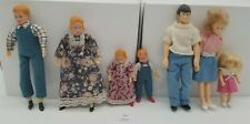 "LMAS ~ Vintage Doll House Family Dolls - Cloth & Wire, Plastic 5-6"" T"