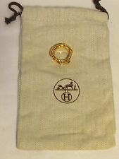 authentique bague de foulard Hermès métal doré