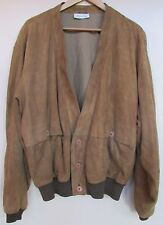 GIANFRANCO FERRE Camel Suede Baseball/Short Jacket Neiman Marcus Italy L/XL