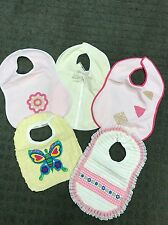 Nwt 5Pcs Adorable Handmade Girls Embellished Bibs