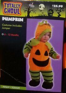 Totally GhoulBoys & Girls babys 1st Orange Pumpkin Costume Plush jumper 6-12m