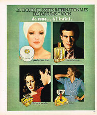 PUBLICITE ADVERTISING 084  1976  CARON  parfums poudres à l'INFINI