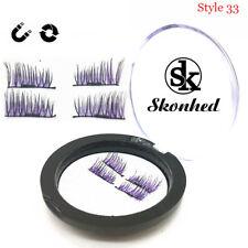 Skonhed 4 Pcs /set 3d Magnetic False Eyelashes Natural Soft Lashes Reusable Style 1