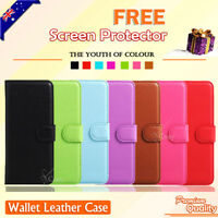 Premium Leather Wallet Card Pocket Flip PU Case Cover For LG Q6 M700