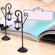 Vintage Streetlight Table Marker Name Place Card Holder Wedding Party Decoration