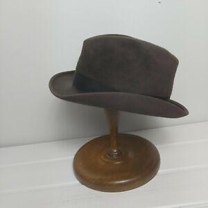 Vintage Mens Christys of London  Trilby Hat 6 7/8 56  evans & Wilkins Carmarthen