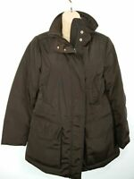 WOMENS MARINA YACHTING ITALY BROWN QUILTED PADDED WINTER COAT JACKET SIZE 42