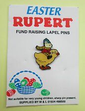 RUPERT POLICE CHARITY PIN BADGE - EASTER CHICK ON ORIGINAL CARD LIMITED EDITION