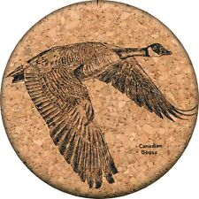 Canada Goose Cork Coaster Bird Drink Mat