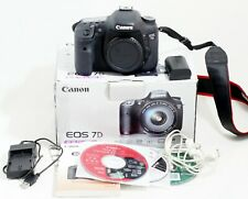 Canon EOS 7D 18.0MP Digital SLR DSLR Camera Body ONLY 13k SHUTTER COUNT
