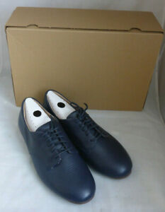Fitflop Adeola Lizard Embossed Maritime Blue Lace Up Derby Leather Shoes Size 6