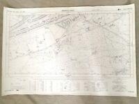 1960 Vintage Map of Surrey Bagshot Park Westend Common 1960s