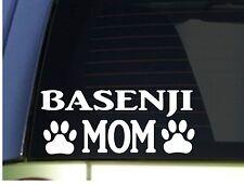 Basenji Mom sticker *H358* 8.5 inch wide vinyl dog yodel training