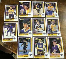 1986-87 O-Pee-Chee  LOS ANGELES KINGS 11  card team  lot