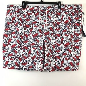 Vineyard Vines Target Mens Size 2XL Swim Trunks Hibiscus Whale Red Lined Mesh