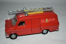 Vintage Dinky Toys Ford Transit Van Fire Service W/Ladder Diecast