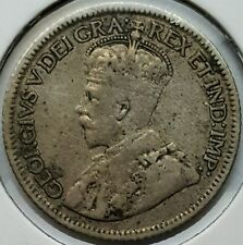 1920 Canada 10 Cents .800 Silver Coin King George  V KM#23a Dime 1st Year Issue