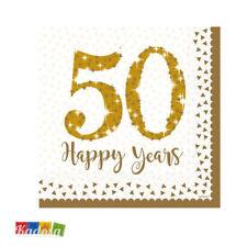 50 Anni//50th Anniversario Di Matrimonio Oro Metallizzato Coriandoli Da Tavolo
