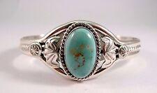 Navajo Sterling Silver Handmade Royston Turquoise Bracelet - William Begay