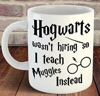 Harry Potter Mug Cup Hogwarts Teacher Christmas Birthday School Present Gift HIS