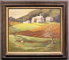 Carol Barany c.1980 landscape painting Bucks Co. woman artist New Hope PA