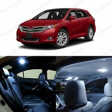 12 x White LED Interior Lights Package Kit Deal For Toyota Venza 2009 - 2014