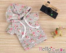 ☆╮Cool Cat╭☆252.【NP-A07】Blythe/Pullip Hoodie Top(Short Sleeves)# Flower Grey