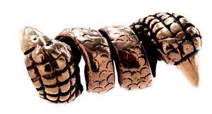 Bartperle Haarperle Bronze Drachenkralle 6 mm Bartschmuck Stück/Paar Kralle 2005