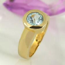 Markenlose behandelte Ringe aus Gelbgold mit echten Edelsteinen