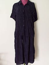 DEBENHAMS, Ladies Short Sleeve Shirt & Matching Skirt, Blue, Size 16 & 14