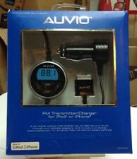 Auvio Full Band FM Transmitter and Charger for iPod and iPhone 1200769 New!