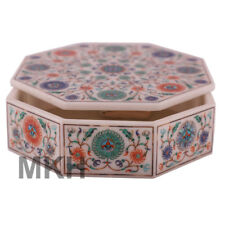 Marble Jewellery Box Vintage Handmade Inlay Scagliola Art Mosaic Marquetry Boxes