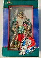 Kurt S. Adler World of Santas German Christmas Ornament Vintage Blown Glass New