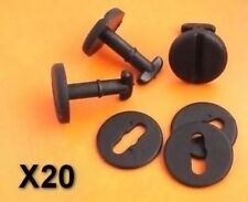 20x BMW Floor Carpet Mat Clips E36 E46 E38 E39 Series Twist Lock with Washers