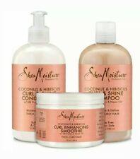 Shea Moisture Coconut & Hibiscus Nourish & Enhance 3pcs Set