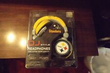 DJ STYLE HEADPHONES HARD HITTING SOUND QUALITY NFL STEELERS OFFICIAL GEAR INLINE