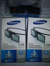 New Sealed Samsung 3D Active Glasses SSG-4100GB | Full HD - 2 Lot