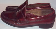 G.H. BASS&CO. MEN'S  MAGHONY LEATHER PENNY LOAFER, SIZE  7 1/2 C, 3 3/4 IN. WIDE