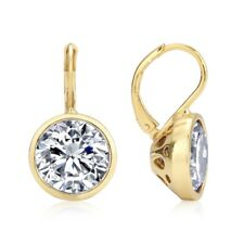 Bella Yellow Gold Cubic Zirconia Drop/Dangle Earrings Wedding-Gift-Jewellery