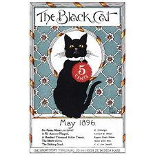 The Black Cat Magazine Cover Art Deco FRIDGE MAGNET, 1896 May Refrigerator Gift