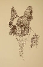 BOSTON TERRIER SIGNED ART LITHOGRAPH #61 Stephen Kline adds your dogs name free.
