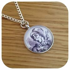 Alice in wonderland Mad Hatter Necklace Bw